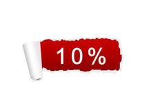 descuento del 10 por ciento Fotografía de archivo libre de regalías