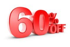descuento del 60 por ciento Imagenes de archivo