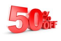 descuento del 50 por ciento Imagen de archivo