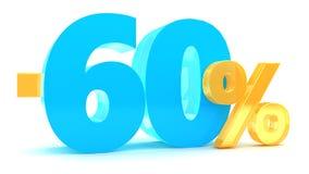 descuento del 60 por ciento Imagen de archivo