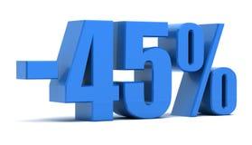 descuento del 45 por ciento Imágenes de archivo libres de regalías