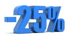 descuento del 25 por ciento Imágenes de archivo libres de regalías