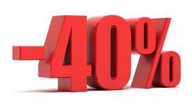 descuento del 40 por ciento Foto de archivo libre de regalías