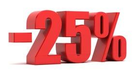 descuento del 25 por ciento Imagen de archivo libre de regalías