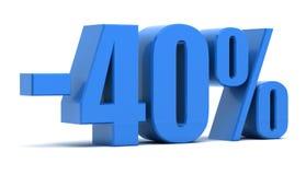 descuento del 40 por ciento Imagen de archivo libre de regalías
