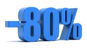 descuento del 80 por ciento Imagenes de archivo