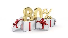 descuento del 80 por ciento Imágenes de archivo libres de regalías