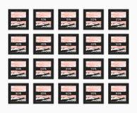 Descuento del 5 a 99 por ciento Descuento de las tarjetas Foto de archivo
