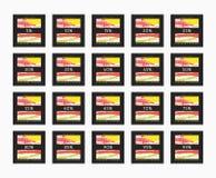 Descuento del 5 a 99 por ciento Descuento de las tarjetas Imagenes de archivo