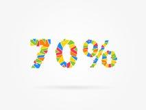 Descuento ejemplo colorido del vector del 70 por ciento libre illustration