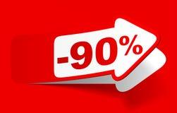 Descuento el 90 por ciento - acción Foto de archivo