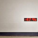 Descuento el 47 por ciento apagado Imagen de archivo libre de regalías