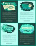 Descuento encima del 20 a 45 por ciento del promo de la venta del verano Libre Illustration