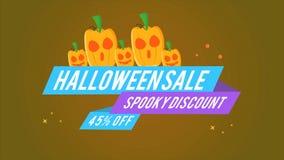 Descuento fantasmagórico 45 de la venta de Halloween del fondo del diseño de la cantidad libre illustration