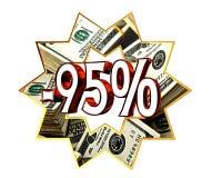 Descuento muestra del 95 por ciento Imagen de archivo libre de regalías