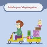 Descuentos, compras, venta y los mejores precios ilustración del vector