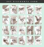 Descuentos del diseño determinado Precio del descuento Ennegrezca viernes Imagen de archivo