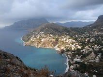 Desde arriba de la montaña Fotos de archivo libres de regalías