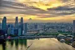 Desde arriba de Marina Bay Sands, Singapur imagen de archivo libre de regalías
