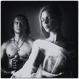 Desdemona. And Othello. Imitation frame from an old movie Royalty Free Stock Photos