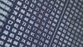 Desdobramento hexadecimal do código do programa video estoque