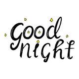 Deseándole buenas noches deletreado Foto de archivo
