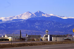 Desea el pico sobre Loveland Colorado Imagenes de archivo