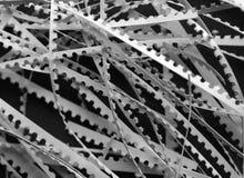 Desecho del papel sobre negro Imagenes de archivo
