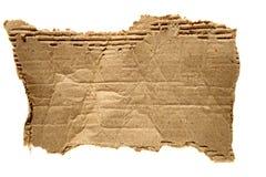Desecho rasgado de la cartulina marrón Fotografía de archivo libre de regalías