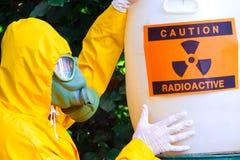 Desechos radioactivos Imágenes de archivo libres de regalías