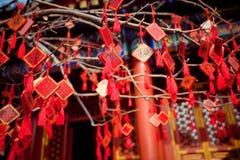 Desee las tarjetas en un templo budista en Pekín imagen de archivo libre de regalías