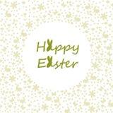 Desejando lhe uma Páscoa feliz ilustração royalty free