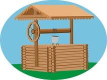 Desejo de madeira bem no Oval Imagens de Stock