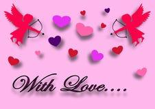 Desejo do amor ilustração royalty free