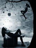 Desejo do pecado da bruxa Imagens de Stock Royalty Free