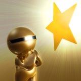 Desejo a um símbolo do ícone da estrela Imagens de Stock Royalty Free