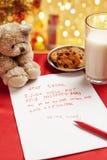 Desejo verdadeiro da criança no Natal fotografia de stock royalty free