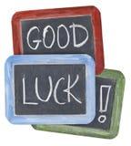Desejos da boa sorte no quadro-negro Foto de Stock Royalty Free