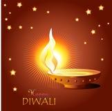 Desejos de Diwali Imagens de Stock
