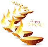 Desejos de Diwali Fotos de Stock Royalty Free