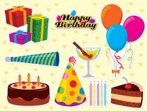 Desejos do aniversário ilustração do vetor