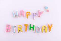 Desejos do feliz aniversario Imagens de Stock Royalty Free
