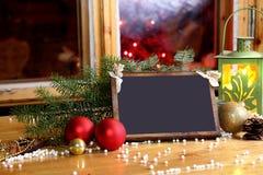 Desejos do Natal - seu texto Fotografia de Stock Royalty Free