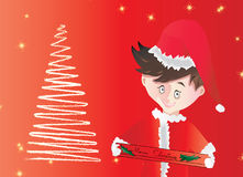 Desejos dos feriados e decoração - vetor Foto de Stock Royalty Free