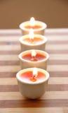 desek bambusowe świeczki Obrazy Stock