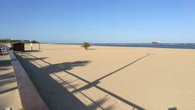 Desembocadura del rAoo瓜达尔基维尔河Sanlúcar视域 免版税库存图片