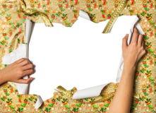 Desempaque de los regalos Imágenes de archivo libres de regalías