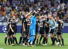 Desempate da liga de campeões de UEFA: FC Dynamo Kyiv v Ajax foto de stock