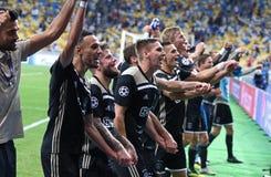 Desempate da liga de campeões de UEFA: FC Dynamo Kyiv v Ajax imagem de stock royalty free
