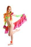 Desempenho da bailarina Fotografia de Stock Royalty Free